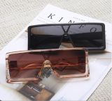 Trendy New Frame One-Piece Sunglasses Personality Men's Large Frame Sunglasses