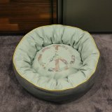 Pet Sofa Cushion Dog Beds Sofa Stuffing Pet Dog Beds Luxury Canvas Round Pet Dog Beds