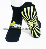 Custom Colorful Polyester Trampoline PVC Grip Jump Socks Trampoline Park Socks