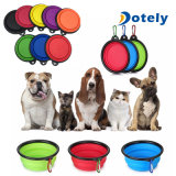 Travel Collapsible Dog Bowl Foldable Expandable Dish for Pet Cat Food Water Food