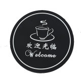Design Hard PVC Coaster with Promotional Logo/Rubber Cup Mats