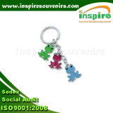 Fancy Frog Charms Zinc Alloy Keychain for Promotional Gift (SK813)
