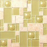 Mosaic Series Low Price Crystal Glass Floor Tiles for Bathroom