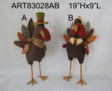 Standing Turkey Holiday Decoration Gift-2asst