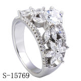 Silver Jewelry CZ Engagement Rings New Design Fancy Women Rings