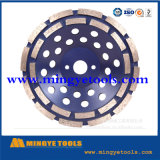 110mm High Performance Double Row Diamond Cup Grinding Wheel