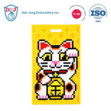 Mosaic Stitch Luggage Tag/ ID Card Holder-Lucky Cat