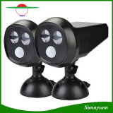 2 LED Solar Motion Sensor Light Wall Mounted Outdoor IP65 Waterproof Garden Lawn Path Security Owl Spotlight