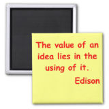 Thomas Edison Quote Refrigerator Magnets