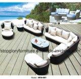 Iron Frame PE Rattan Outdoor Sofa Set Garden Furniture