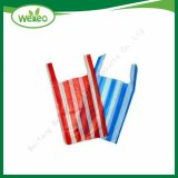 Raw Material HDPE LDPE Candy Stripe Plastic Shopping Bags with Competitive Price