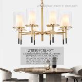 Copper Pendant Lamp Contemporary Design Plating LED Metal Glass Chandelier