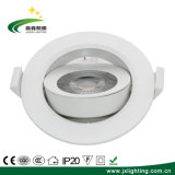 White LED Factory Ce 5W, 10W, 12W Wholesale Recessed LED COB Ceiling Downlight for Hotel/Shopping Mall/Musem/Bathroom
