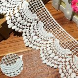 Wholesale 8cm Embroidery Water-Soluble Cotton Lace Fabric for Dress