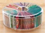 Lucency Plastic Round Tea Bag Box (TV0052)