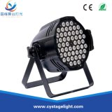 Guangzhou Wholesale 54PCS 3W RGBW 4in1 LED PAR Can Disco Stage Lights