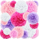 8 Inches Flower Paper Party Supplies POM POM Tissue Decorations
