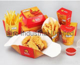 Customized Logo Food Grade Paper Burger Box Food Packaging