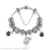 Purple Amethyst Chain Bracelet for Women