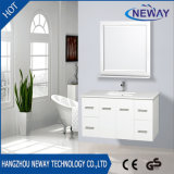 Wholesale White PVC Curved Bathroom Vanity with Mirror