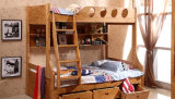 Solid Wooden Bed Room Bunk Beds Children Bunk Bed (M-X2210)