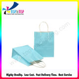 Blue Kraft Paper Shopping Packing Bag