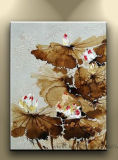 Home Decor Floral Art Flower Oil Painting on Canvas (FL1-105)