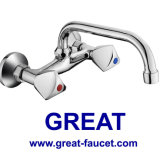 Double Handle Wall-Mounted Kitchen Faucet (GL048X03U)