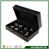 Classical Black Luxury Plastic Cufflink Box