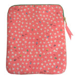 Lady Women Polyester Canvas Tablet PC Laptop Sleeve