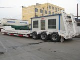 3 Axles Low Bed Semi Trailer 3rows 6 Axles Low Bed Semi Trailer Price/Excavator Trailer/100 Tons Lowboy Trailer for Sale