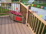 225*31mm WPC Outdoor Decking with SGS, Fsc, CE Certificate