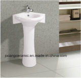 Popular Types Toilet Hand Wash Basins Pedestal Washbasin with Ce Certificate
