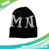 Acrylic Jacquard Customized Cuffed Winter Beanie Knitted Hat (080)