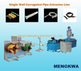 Single Wall Corrugated Electrical Wire Conduit Plastic Pipe Extruder Machine