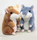 Talking Hamster Electronic Plush Toy Sound Soft Cute Gift for Children