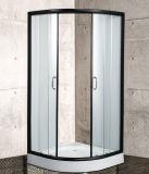 Double Sliding Black Aluminium Profile Framed Shower Box