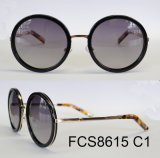 Fashionable Round Shape Acetate Eyewear Sunglasses (Ce/ FDA)
