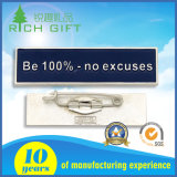 Cheapest Price Hot Sale Soft Enamel Nameplate Metal Badge with Safety Pin