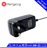 UK Adapter 100-240VAC 50/60Hz 24V 1A Power Adapter with Ce BS CB