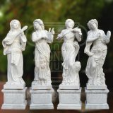 Garden Decoration Sculpture White Marble Stone Statue of Four Musical Goddesses