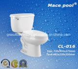 Bathroom Toilet Sanitary Ware Two Piece Toilet Ceramic Wc (CL-016)