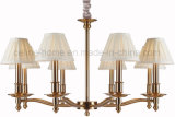 Antique Iron Chandelier Lamp with Fabric Shade (SL2015-8)