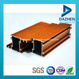 Wooden Grain Customized Aluminium Extrusion Profile for Window Door