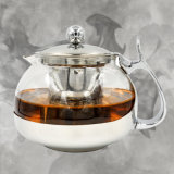 2018 Hot Sale Kitchenware Glass Kettle Teapot with Lid Wth Filter High Borosilicate
