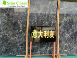 Indoor Decoaration Natural Italy Grey Marble Slab Price