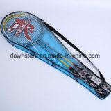 Glossy Cheap Iron Alloy Badminton Racket Set with Cover