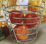 High-Capacity Metal Fruit Basket