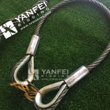 Wire Rope Sling with Solid Pressed Thimble and Ferrule