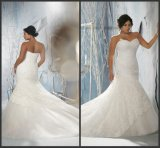 Sequins Lace Bridal Gown Plus Size Sweetheart Wedding Dresses W14109